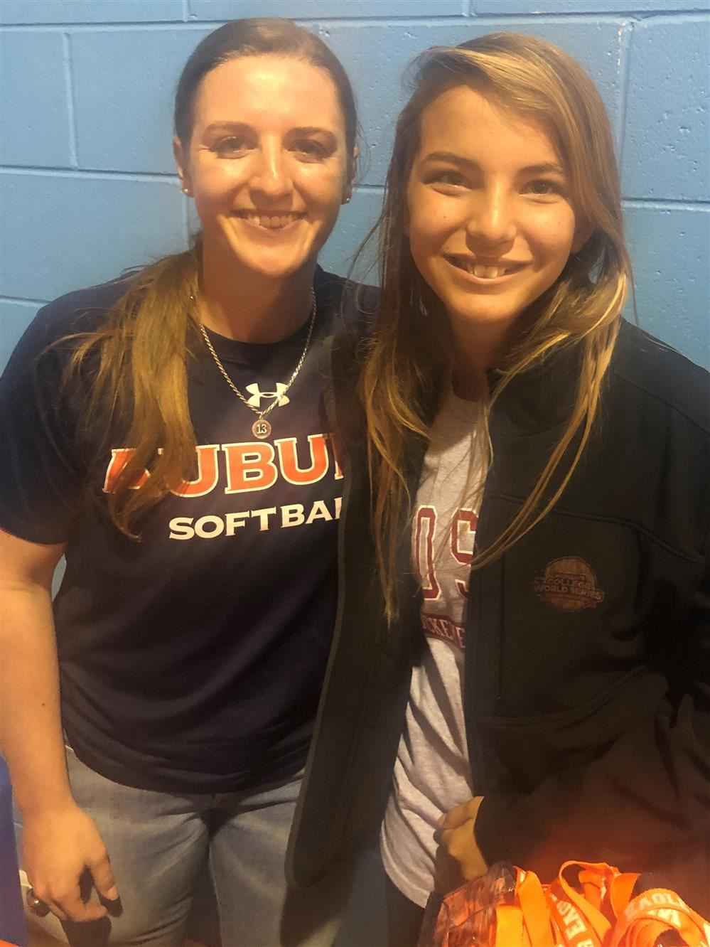 Photo of Auburn Alumni Kasey Cooper and 6th grade student Jadyn Rausch