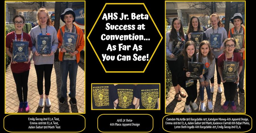 Jr Beta Award Winners