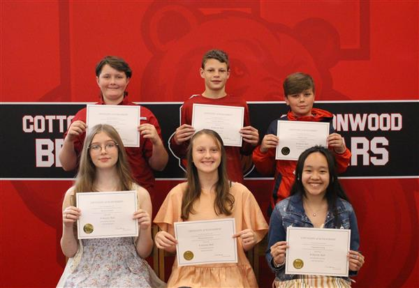 7th Grade A Honor Roll Students