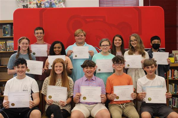 8th Grade AB Honor Roll
